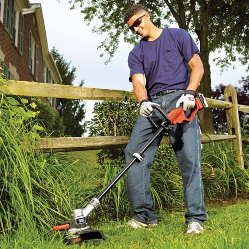 how to edge a lawn with a line trimmer