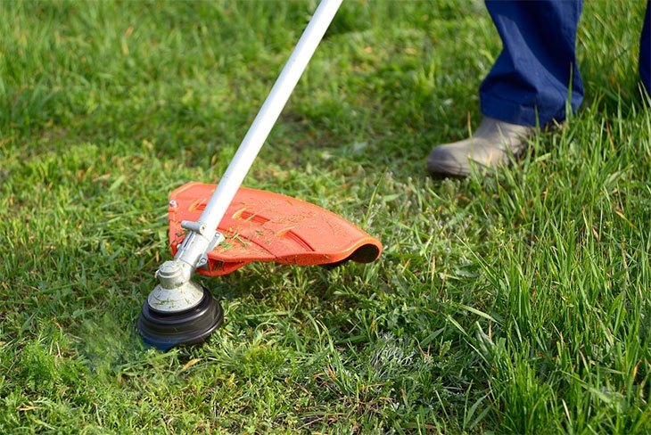 how to edge grass with string trimmer